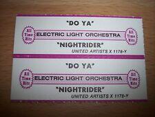 "2 ELO Electric Light Orchestra Do Ya Jukebox Strip CD 7"" 45RPM Records"