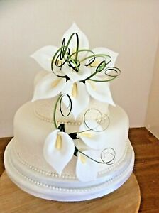 TRAILING WEDDING CAKE SUGAR CALA LILIES SET OF, 2 TIER