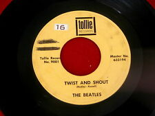 BEATLES~TWIST AND SHOUT~THERE'S A PLACE~VG+~TOLLIE 9001~~ POP 45