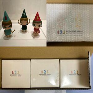 YOSHITOMO NARA + graf A to Z 1 2 3 Drumming Girls ART TOY Unused Unopened Box