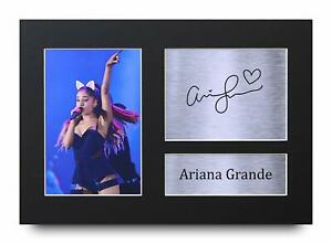 Ariana Grande Signed A4 Framed Printed Autograph Poster Print Music Gift