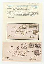 STORIA POSTALE 1870 GERMANIA DEL NORD SERVIZIO 1/3g+2K.+3K.MITTEL WALDE Z/4442