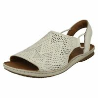 Ladies Clarks Sarla Cadence Black Or Red Nubuck Or White Leather Casual  Sandals dfa4d779c4d