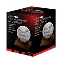 Ultra Pro Wood Base Baseball Holder (Dark Wood) Ball Display Wooden Stand New