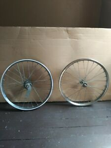 """VINTAGE,MUSCLE BICYCLE,HUFFY,CHEATER,SLICK DRAGSTER RAIL,20""""RIM SET PARTS"""