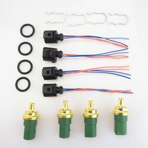Green Car Engine Coolant Temperature Sensor +Cable Pigtail Plug for Audi VW Golf