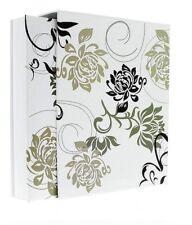 "White Flowers Slip In Photo Album In Box Holds 500 6"" x 4"" Photos Memories Gift"