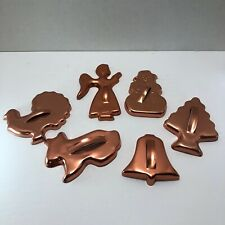 Vtg 70s Cooper-tone Aluminum Cookie Cutters lot of 6