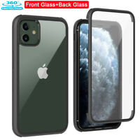360° Tempered Glass Full Rugged Bumper Clear Case Cover for iPhone 12/11 Pro Max