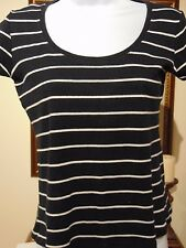 Marks & Spencer Women's Black and White striped top  Size UK 10