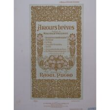 PUGNO Raoul J'ai la mémoire des parfums Chant Piano 1899 partition sheet music s