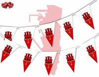Gibraltar Full Flag Patriotic Themed Bunting Banner 15 Triangle flags National