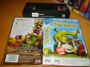 SHREK - 2001 Dream Works Home Entertainment - Animated Creation - Vhs Not Dvd!