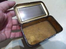 boite tole coffre miroir pub machine a coudre AFRANA vintage tin box with mirror