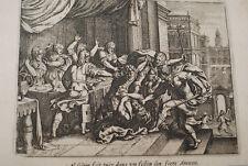 GRAVURE SUR CUIVRE MORT D'AMNON ABSALOM-BIBLE 1670 LEMAISTRE DE SACY  (B98)