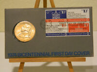 1974 BICENTENNIAL FIRST DAY COVER AMERICAN REVOLUTION PRES JOHN ADAMS COIN STAMP