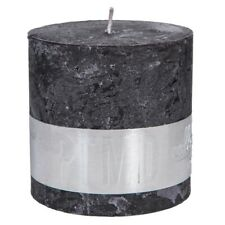 RUSTIC CHARCOAL BLACK BLOCK CANDLE