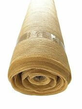 Shatex 90% 12ftx 15ft Heavy Shade Fabric Roll with free Hanging Clips Wheat