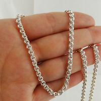 """3.5mm Double Rolo Rollo Chain Necklace - 925 Sterling Silver  26"""", 28"""", 30"""", 32"""""""