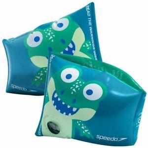 Speedo Corey Croc printed armbands - Green, Children's Pool Floaties, Swimming A