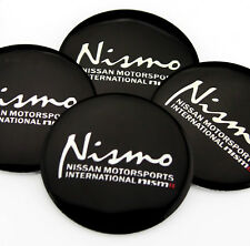 "4x 56mm 2.2"" Auto Car Wheel Center Hub Cap Emblems Badge Sticker Fit NISMO NEW"