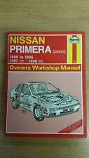NISSAN PRIMERA 1990-1995 HAYNES WORKSHOP MANUAL 1851 GOOD USED COND & FREE P&P