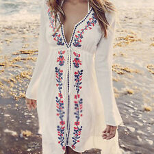 Women's Beach Dress Lace Chiffon Crochet Bikini Cover Up Swimwear Bathing ujkl