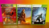 Halo 2 3 4 - Microsoft Xbox 360 Games - Tested 3 Game Bundle Lot Excellent Discs
