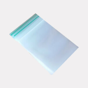 Clear Poly Plastic Grip Self Press Seal Bag Reusable Zip Lock Small Bags