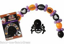 Naranja Negro Lila Halloween Globo Arco Kit Araña Decoración Fiesta