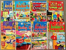 8 Archie Comics Bronze Age PALS n GALS Betty Veronica  Giant (LOT B33)