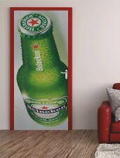 Türposter WERBUNG Türaufkleber Türfolie Türtapete Bier Heineken Flasche 536TP