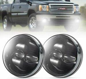 Pair LED Fog Lights For 07-13 GMC Sierra 1500 2500HD 3500HD Bumper Driving Light