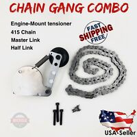 Spring Chain Tensioner + 415 Chain + Half Link + Master Link - Motorized Bicycle