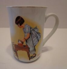 Mug Cup Norman Rockwell Party Time 1981 Girl Doll Coffee Cup Ceramic