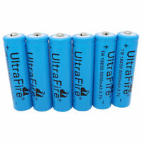 6 X 18650 Rechargeable Li-ion Battery 3.7V 5000mAh for Flashlight Hand Headlamp