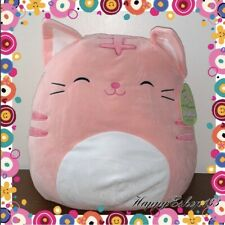 "Squishmallows 16� Plush Pink Tabby Cat_ Squeeze & Cuddle Me/""Paulita�"