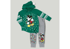 642ba6432062b Disney Toddler Girls Green Holiday Mickey Mouse Hoodie & Sweats Set 18  Months