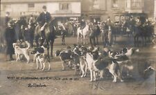 Hoddesdon. Meet of Broxbourne-Bury Hounds 1908. Fox Hunt.