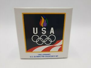 FREE SHIPPING Sealed JCPenney USA 1992 US Olympic Pin Collector's Set NEW IN BOX