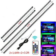 TV LED Backlight 2x50CM+2x100CM USB RGB 5050 Strip Light Remote Kit 5V 30Leds/M