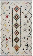Tribal Geometric Gabbeh Moroccan Oriental Area Rug Handmade Lamb-Wool Carpet 6x9