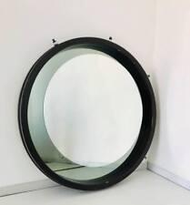 Specchio tondo da parete round mirror wall legno vetro design anni '70 vintage
