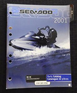 GENUINE 2001 SEA DOO RX DI 5534 5535 5536 5537 JET SKI WATERCRAFT PARTS MANUAL