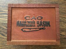 Wood Cigar Box CAO Amazon Basin Lift Off Lid (EMPTY) Stash Crafts
