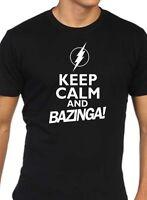 Keep Calm and Bazinga funny mens big bang theory sheldon cooper