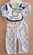 DARLING NEW CARTER'S NEWBORN 3PC GRANDMA MAKES SMILE GOWN/OUTFIT W/BIB & BOOTIES