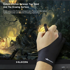 Huion GL200 Two-Finger Free Size Drawing Glove Artist Tablet Painting Glove X5F0