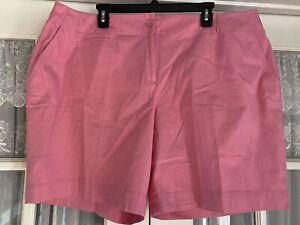 "Talbots shorts size 20W P petite Pink 4 pockets 10"" inseam womens"