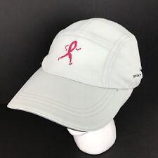 Breast Cancer Gray Running Sweat Vac Hat Cap Pink Logo Baseball Adjustable Back